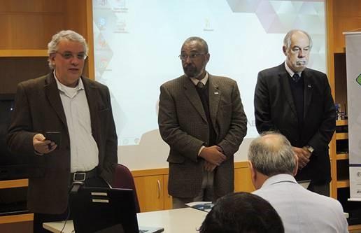 O vice-presidente da ABC, João Fernando Gomes de Oliveira; o vice-presidente da Regional São Paulo da ABC, Oswaldo Luis Alves; e o diretor-presidente da Embrapii, Jorge Guimarães